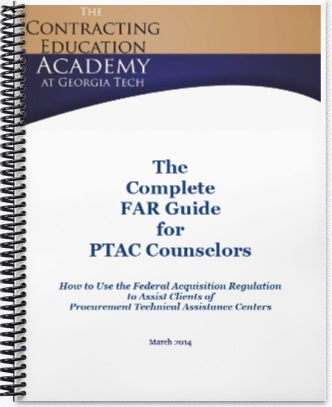 Each workshop attendee received a 202-page manual explaining pertinent parts of the Federal Acquisition Regulation.