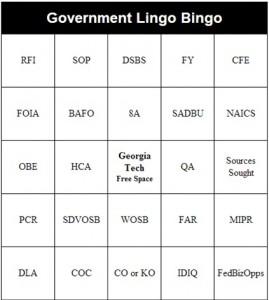 Govt Lingo Bingo