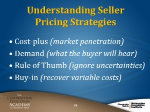 CON 170 Understanding Seller Pricing