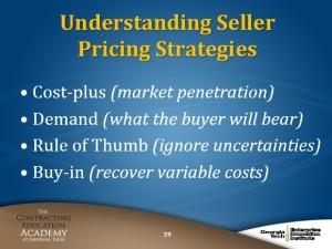 CON 170 Understanding Seller Pricing