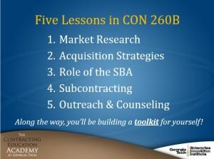 CON 260B Lessons