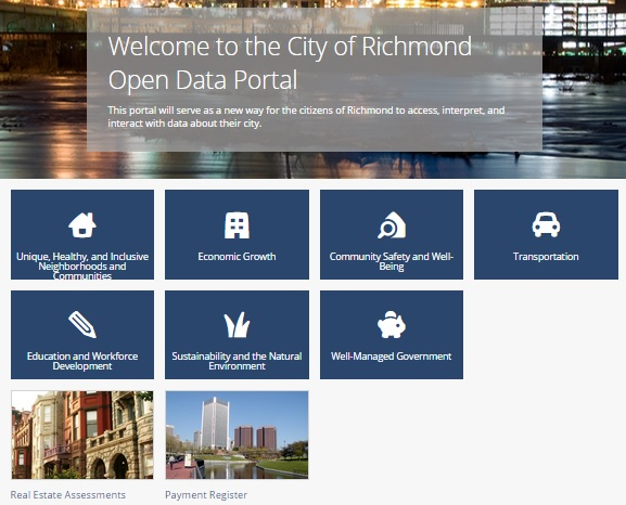 The City of Richmond's new open data website provides detailed information such as every check written by the city government.