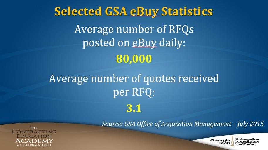 Selected GSA eBuy Stats