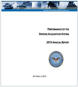 Performance of the Defense Acquisition System - 2015 Report