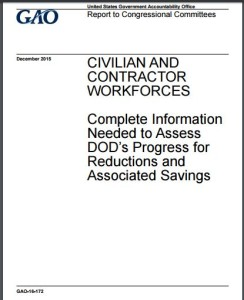 GAO Report on DoD Workforce 12.2015