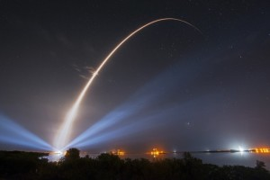 Atlas 5 rocket launch from Cape Canaveral with a U.S. Navy communications satellite in January 2015. Photo credit: ULA