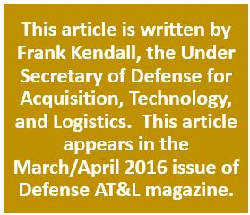 Frank Kendall Mar Apr 2016