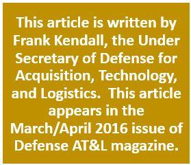 Frank Kendall Mar Apr 2016