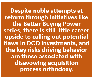The Risk of Disavowing Acquisition Orthodoxy