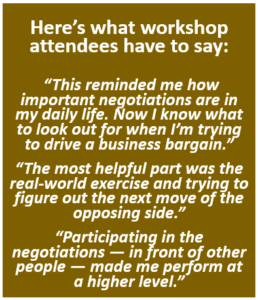 Negotiation Workshop - quotes